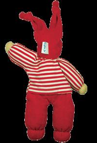Eko-dockan röd Rag Doll